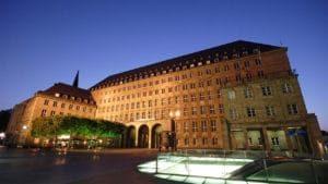 Ratskeller Bochum - Außenfassade am Abend